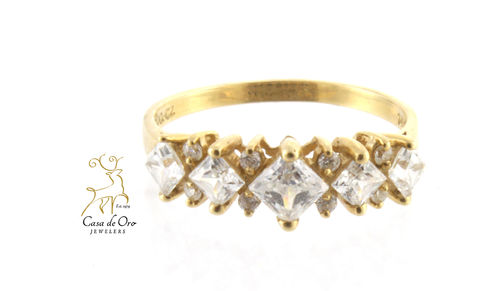 Cubic Zirconia Ring 14K Yellow