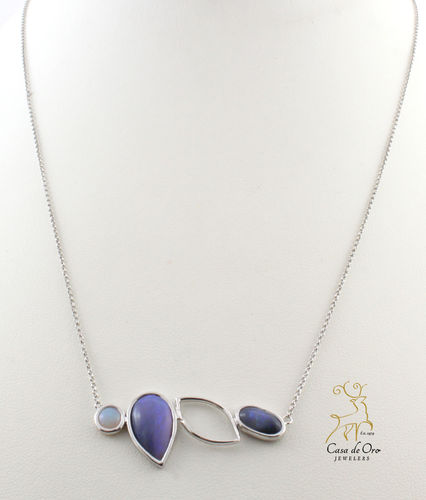 Opal Necklace 14K White