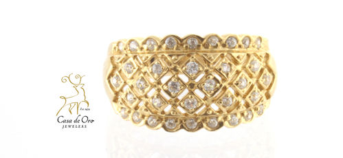 Cubic Zirconia) Ring 14K Yellow