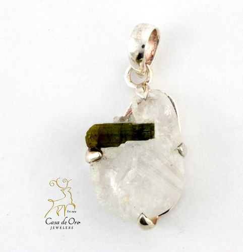 Sterling Green Tourmaline Pendant