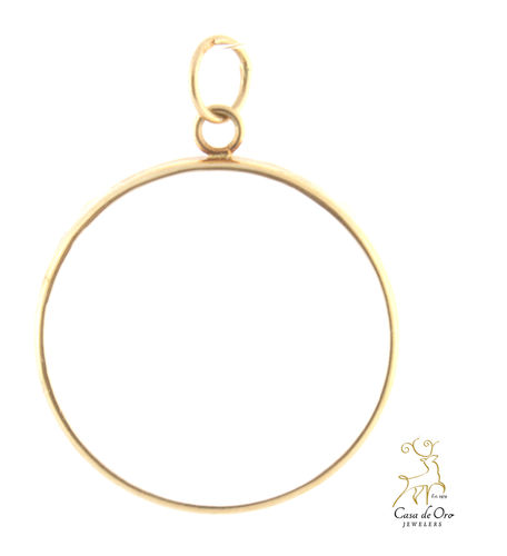 1/2oz Plain Coin Bezel 14K Yellow