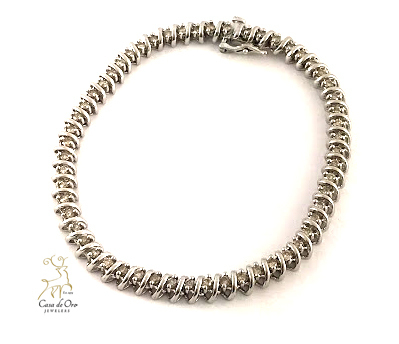 Diamond Bracelet 14K White