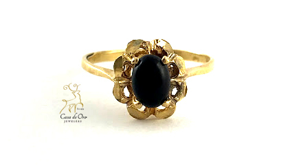 Onyx Ring 14K Yellow